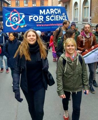 Vi var många som marscherade för vetenskapen idag. Foto: Viktor Bergqvist