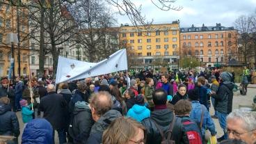 Avmarsch from Mariatorget i Stockholm. Foto: Viktor Bergqvist