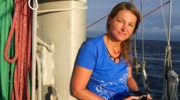 Sandra Bessudo aboard the research schooner Tara in Malpelo. Foto: © Yann Chavance / Tara Expeditions Foundation (använt med tillåtelse)