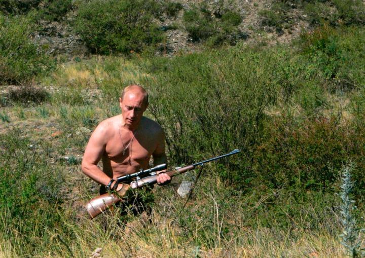 Vladimir Putin bar överkropp