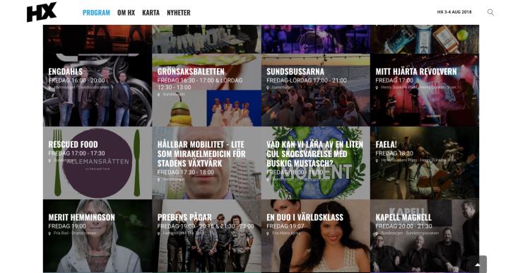 Program HX Helsingborg stadsfestival 2018