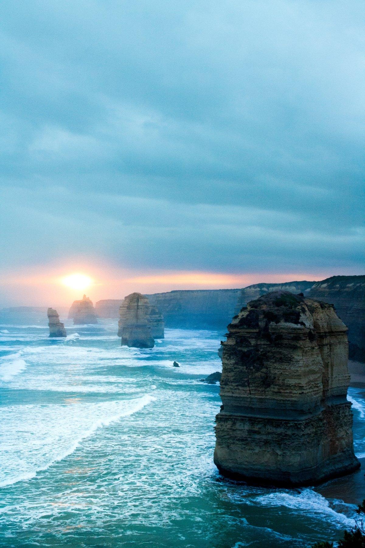 Soluppgång hav vatten