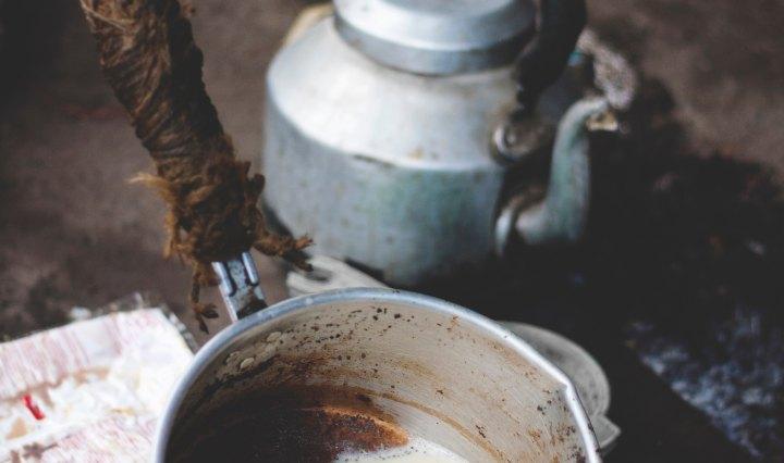 koka vatten varmvatten kastrull